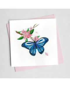 Blue Butterfly Quilling Card