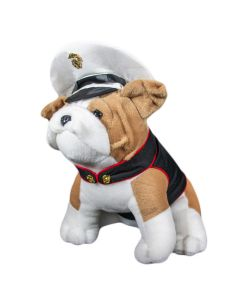 USMC Dress Blues Chesty Bulldog Plush
