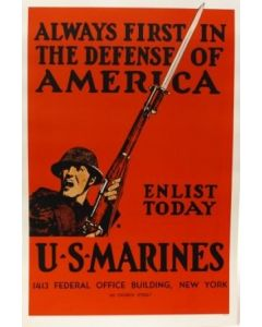 Always First in The Defense of America Poster - in sleeve