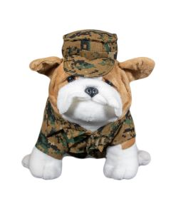 USMC Woodland Camo Chesty Bulldog Plush
