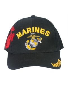 Marines Embroidered Black Shadow Cap
