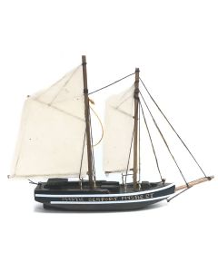 Wooden Boat Ornament