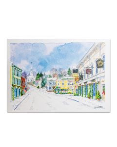Winter Evening in Mystic Holiday Cards